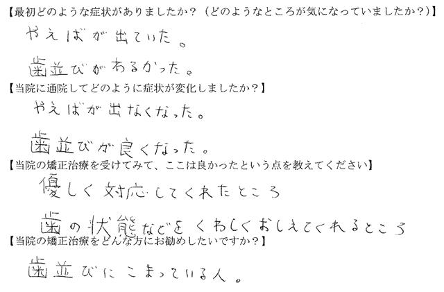 (四街道市 I様 16歳)