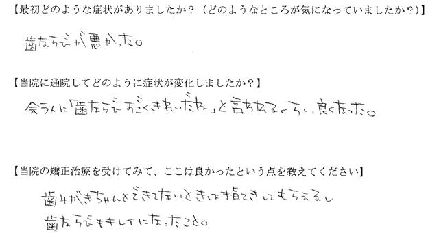 四街道市 O様(16歳・高校生)